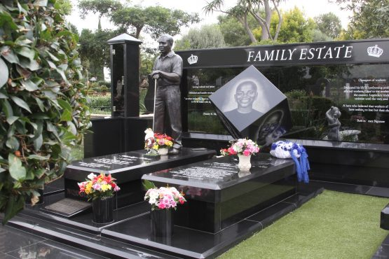 This family used a lot of granite in their burial space.