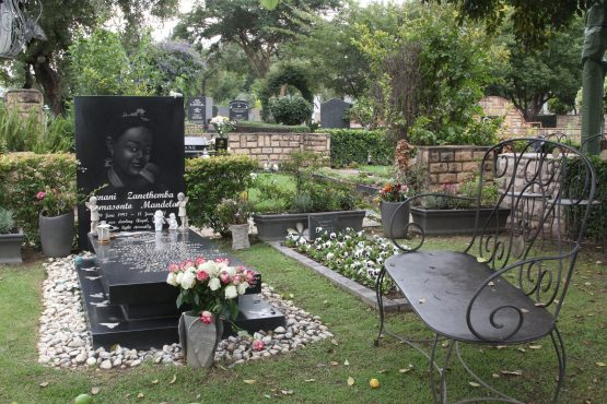 The last resting place of two of the Mandela children. Mama Winnie Mandela will be laid to rest next to them in a space reserved for her family.