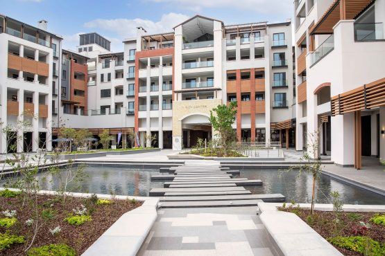 The main entrance piazza area of the City Centre development at Steyn City. Image: Supplied