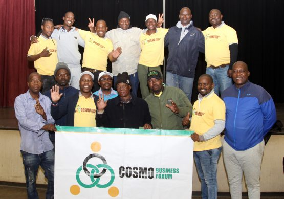 Members of the Cosmo City Business Forum at a charity drive hosted at the Cosmo City Multipurpose Centre. Picture: Moneyweb
