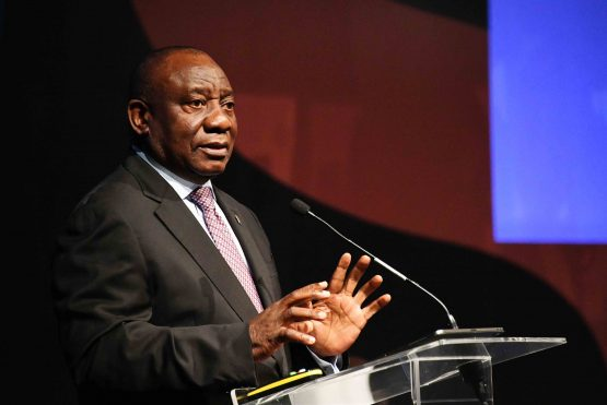 President Cyril Ramaphosa addressing the inaugural 4th Industrial Revolution SA - Digital Economy Summit. Picture: Jairus Mmutle/GCIS