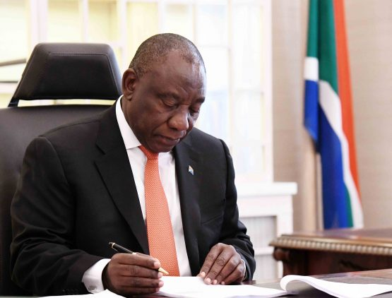 President Ramaphosa preparing his speech ahead of 2019 Sona in Cape Town, where he will be delivering it. Picture: Jairus Mmutle, GCIS