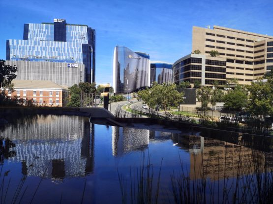 Office buildings such as these in Sandton are likely to experience less demand as leases expire. Image: Moneyweb