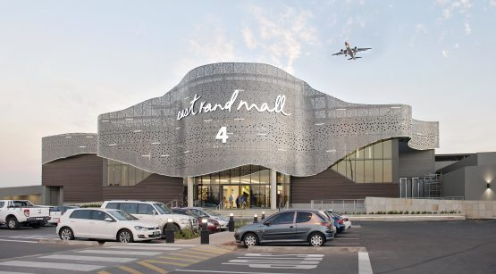 An exterior view of East Rand Mall, which is jointly owned by JSE-listed Vukile Property Fund and Redefine Properties. Image: Supplied