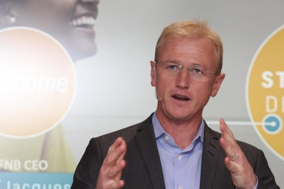 FNB CEO Jacques Celliers says FNB's credit card book is as strong as that of Discovery Card. Picture: Moneyweb
