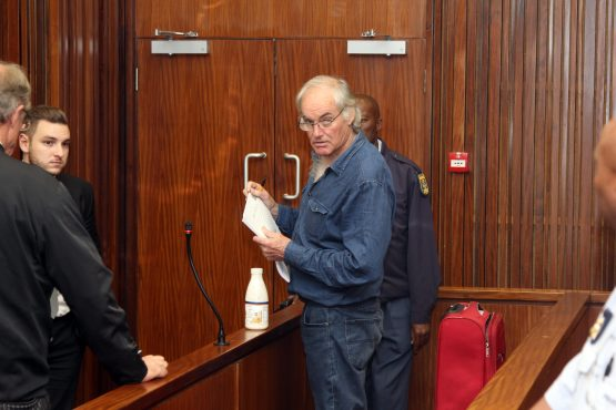 Porritt, who has been in custody for more than a year after contravening his bail conditions, was brought into court in shackles. Picture: Moneyweb