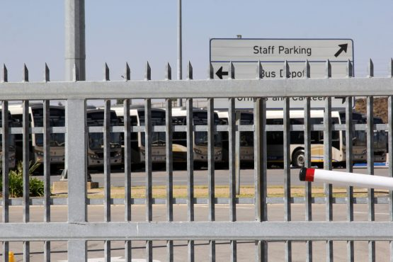 The Midrand depot is in an isolated area – and with shifts running from 03:00 until 23:15, the lack of public transport is a safety issue, says Untu. Image: Moneyweb
