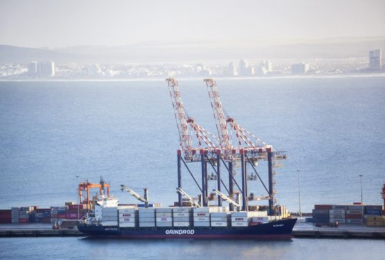 A vessel owned by JSE-listed Grindrod Limited docked at the Port of Cape Town. Image: Supplied