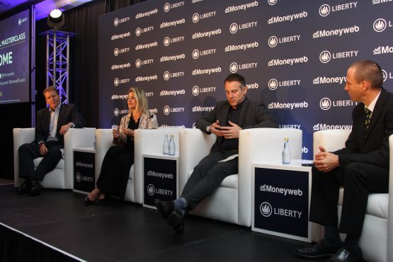 Top trio: Andrew Vintcent , Janet Hugo and Adrian Saville share their views at the Retire Well Masterclass in Sandton on Tuesday. Picture: Moneyweb