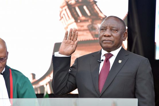 Cyril Ramaphosa is sworn in as the fourth democratically-elected president of South Africa. Picture: GCIS