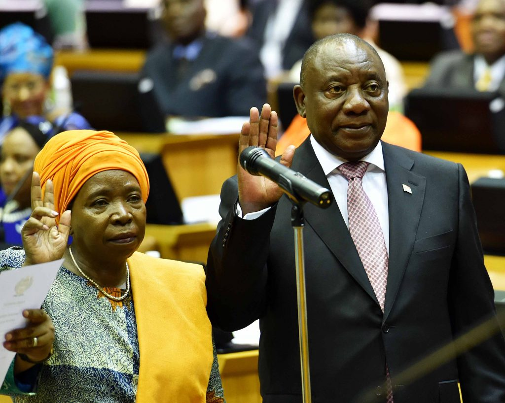Lawmakers elect Ramaphosa as state president