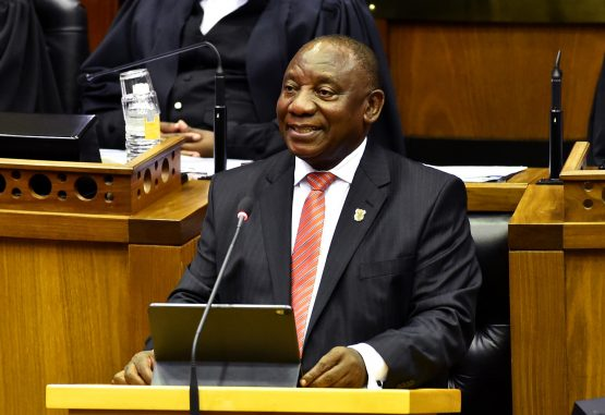 President Cyril Ramaphosa delivering the State of the Nation Address in February. Image: GCIS