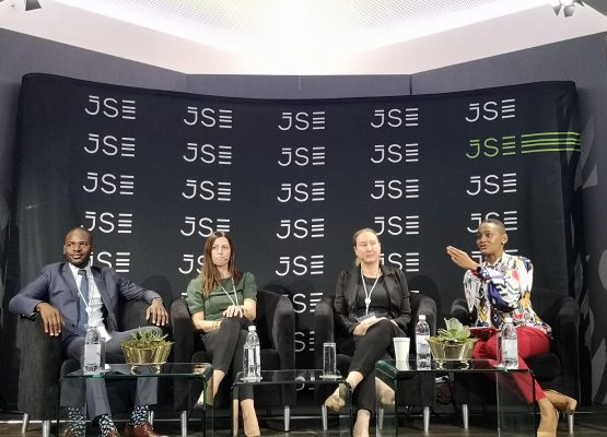 The knock felt by the primary and secondary sectors has moved into the tertiary sector. 'We are kicking the legs out of the economy,' says Citi Research's Gina Schoeman (second from left). Image: Moneyweb