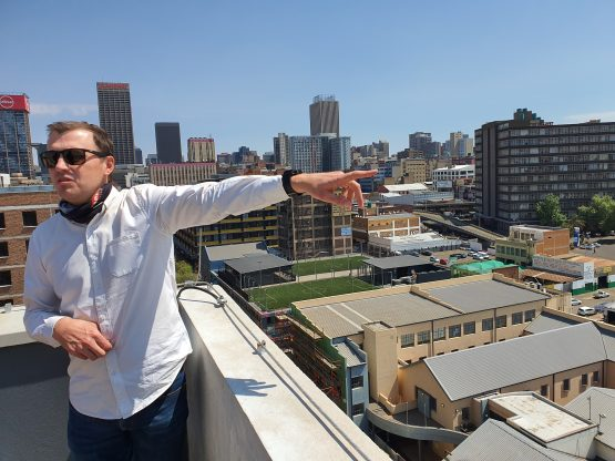 Rian Reyneke, CEO of Ithemba and a board member of Divercity, during a tour of the Jewel City precinct.