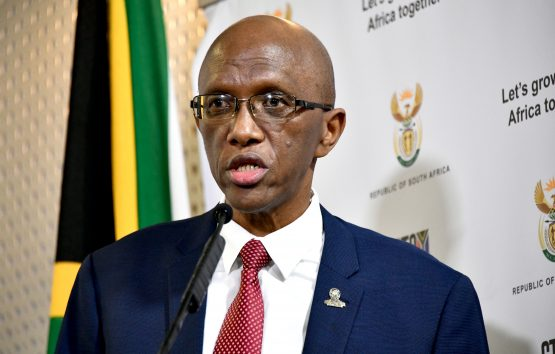 Auditor General Kimi Makwetu speaking during the release of the agency's Covid-19 Relief Funds Audit on Wednesday. Image: GCIS