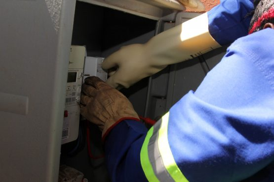 Installation of a new meter.