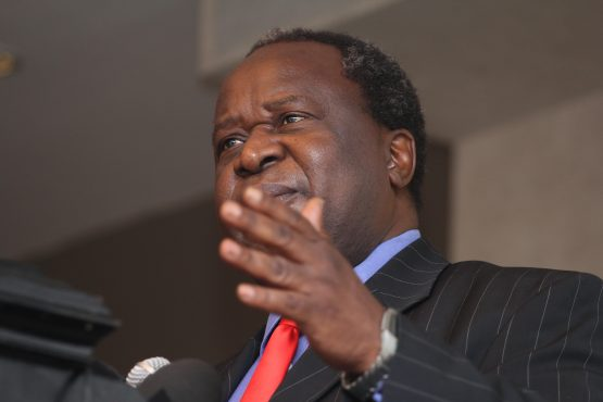 Tito Mboweni pictured on Thursday. He has promised frank talk with investors at Davos. Image: Moneyweb