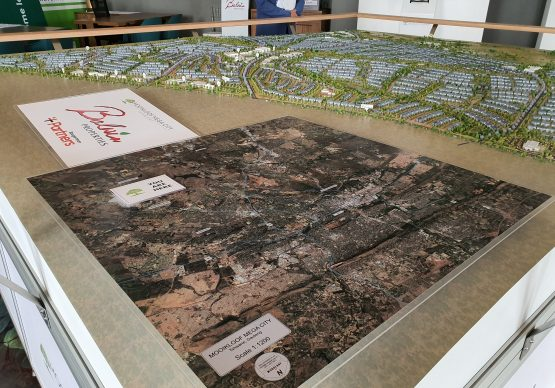 An architect's model of Mooikloof Mega City, which shows the massive scale of the Pretoria east development. Image: Suren Naidoo, Moneyweb