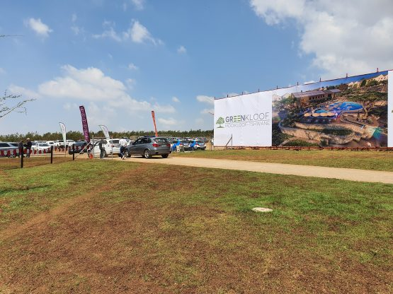 A billboard at the Mooikloof Mega City site showing part of the first phase of the 'green' development. Image: Suren Naidoo/ Moneyweb