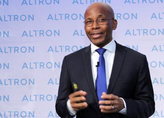 Altron CEO Mteto Nyati has a lot to smile about. Image Moneyweb