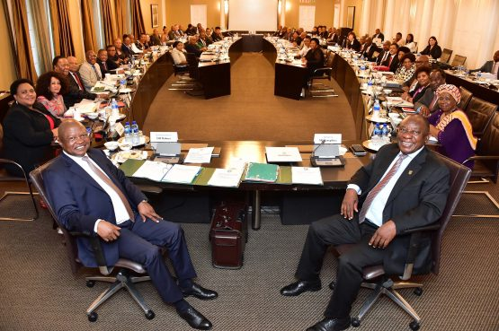 Cabinet meeting ahead of Finance Minister Tito Mboweni delivering the 2020 Budget Speech and related Bills in the National Assembly, Parliament. Picture: Elmond Jiyane, GCIS