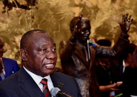Ramaphosa draws a crowd in New York but Trump looms over his talk