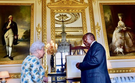 President Cyril Ramaphosa pays a courtesy call on Her Majesty the Queen at the Windsor Castle ahead of the Commonwealth Heads of Government Meeting which commenced on Monday.