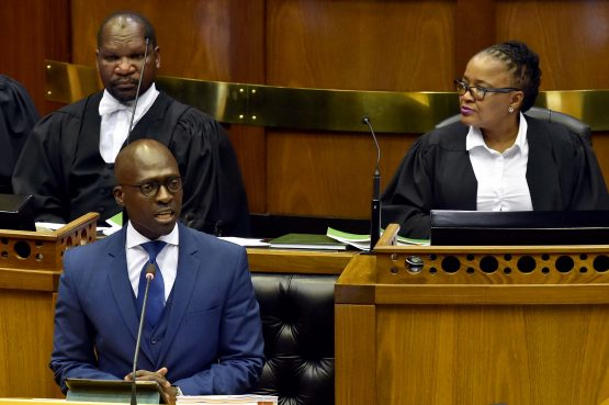 Malusi Gigaba delivers his Medium-Term Budget Speech in the National Assembly, Cape Town. Picture: Supplied