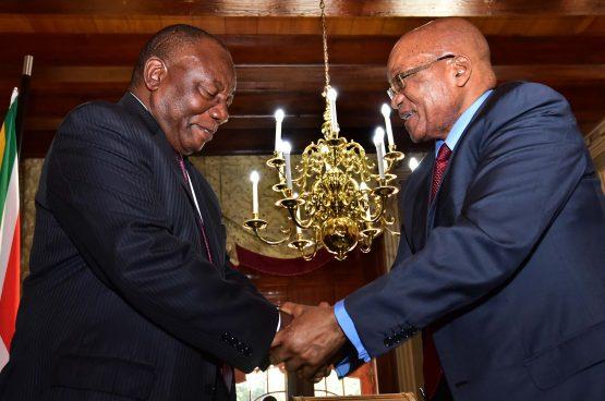 Cyril Ramaphosa and Jacob Zuma. Picture: Moneyweb