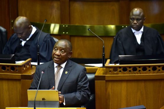 President Cyril Ramaphosa delivering his State of the Nation Address in a joint sitting of the opening of Parliament. Picture: Elmond Jiyane, GCIS