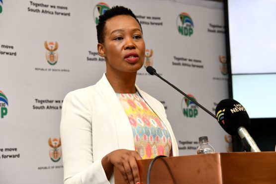 Minister of Communications and Digital Technologies, Ms Stella Ndabeni-Abrahams has been put on two months' special leave for violating lockdown regulations. Image: Supplied.