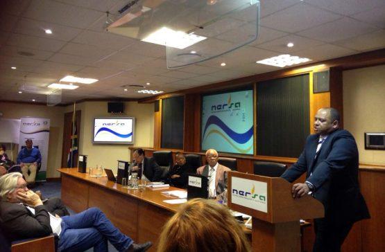 Eskom general manager for economic planning and regulation Calib Cassim addresses a public hearing at energy regulator Nersa's head office in Pretoria on Friday June 7.