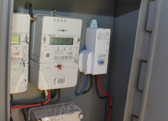 Old meter verus new meter on right.