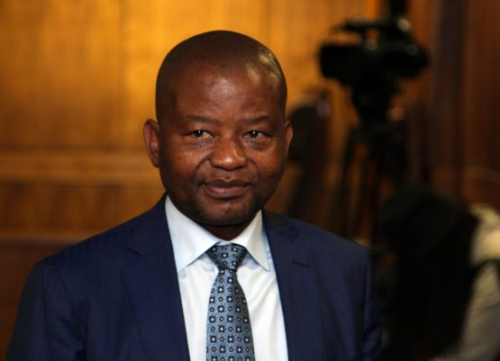 Reinstated Old Mutual CEO Peter Moyo appears at the High Court in Johannesburg. Picture: Moneyweb