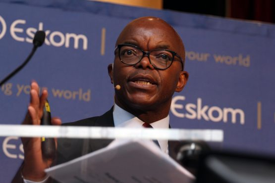 Eskom CEO Phakamani Hadebe. Eskom is in 'ongoing conversations' with lenders, its media desk has said in a statement. Picture: Moneyweb