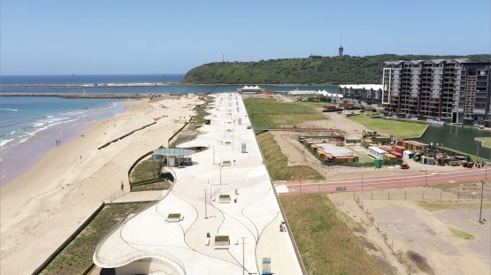 Part of the new Durban Point promenade. Future plans include a 'Durban Eye' Ferris wheel, a mall adjacent to uShaka Marine World, and further mixed-use development. Image: Supplied