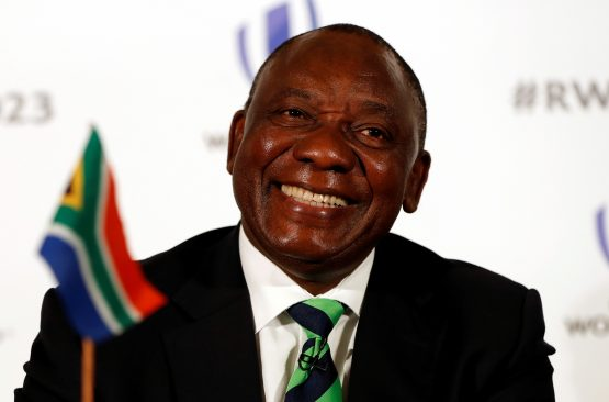 Shares in PPC, AdaptIT and the JSE have all gained since Cyril Ramaphosa's (pictured) election as ANC leader in December. Picture: Reuters/Paul Childs