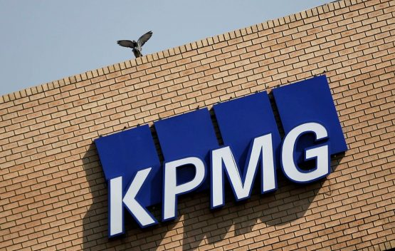 The KPMG logo is seen at the company's head offices in Parktown, Johannesburg. Picture: Reuters