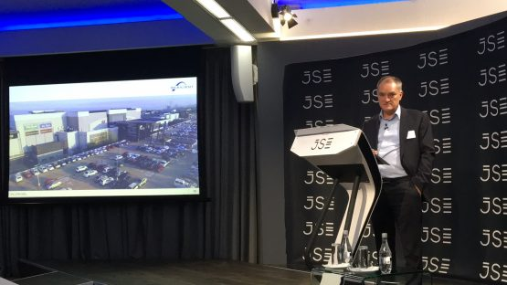 Optimistic … Des de Beer speaking at the company's results presentation at the JSE on Tuesday. Picture: Moneyweb