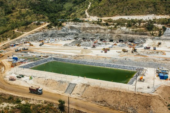 A tailings dam for mining byproduct storage sits at the Northam Platinum, Booysendal platinum mine. Image: Waldo Swiegers, Bloomberg