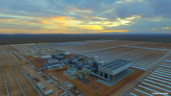 The 100 MW Kathu Solar Park was synchronised to the electricity grid last month. Image: Supplied