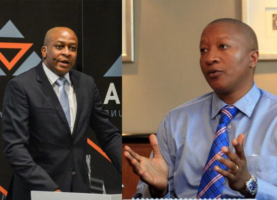 Delta and Rebosis founding CEOs Sandile Nomvete (left) and Sisa Ngebulana. The funds last looked at a possible merger in 2014. Images: Supplied