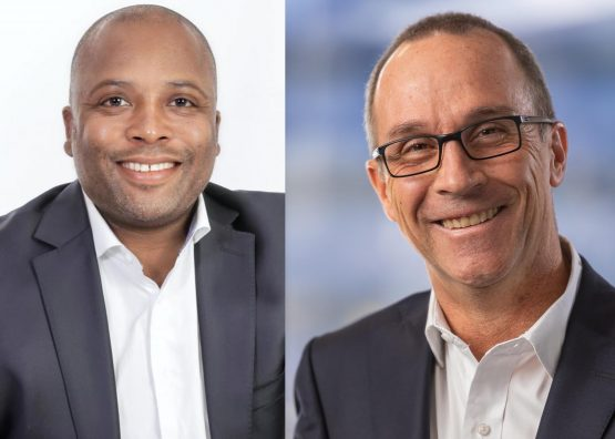 Dipula's Izak Petersen (left) and Emira's Geoff Jennett are both leading takeover bids for the struggling listed property company. Pictures: Supplied