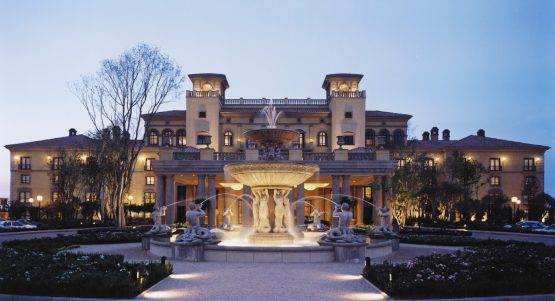 Exterior of the hotel Porte Couchere at the Palazzo. Picture: Supplied