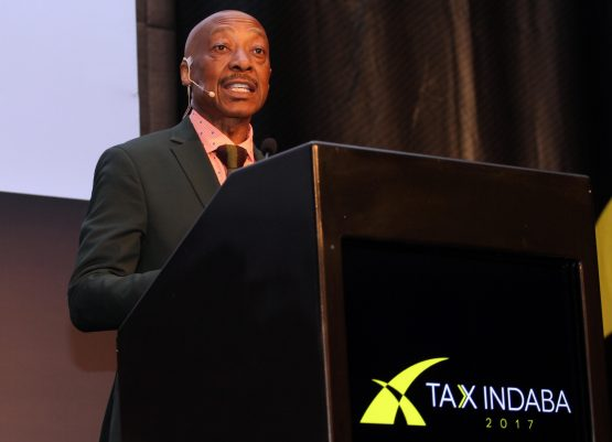 Tom Moyane, Commissioner of Sars, speaking at the 2017 Tax Indaba in Sandton, Johannesburg. Picture: Moneyweb