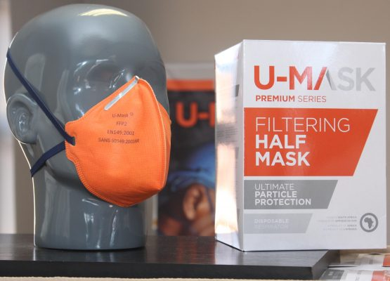 Local face mask manufacturer U-Mask has stepped up production, is working 24-hour shifts, and is finding new markets overseas. Image: Moneyweb