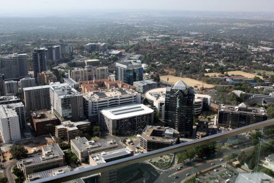 Sandton – SA's financial hub and a major property node, seen from The Leonardo, Africa's tallest mixed-use building. Image: Moneyweb