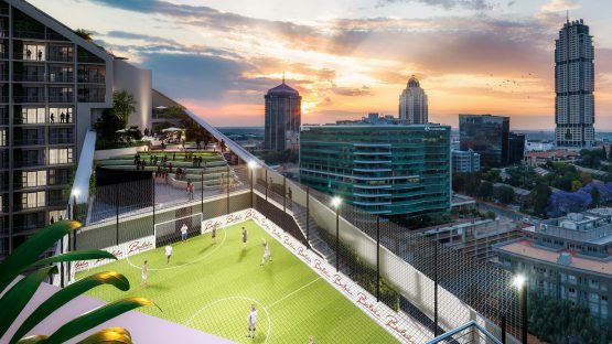 An artist's impression from the development's roof top. Image: Supplied