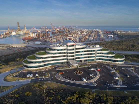 The landmark new eMendi building at the Port of Ngqura, which was completed at a cost of R255 million in 2017, is set to become the new head office of Transnet National Ports Authority. Image: Supplied
