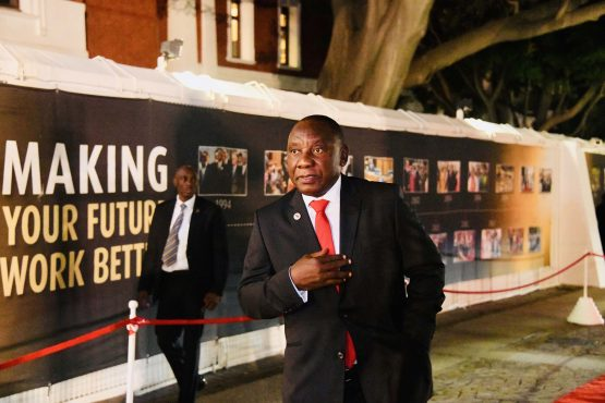 President Cyril Ramaphosa during the state of the nation address in Parliament, Cape Town. Picture: Siyabulela Duda